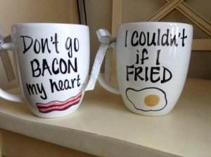 Don't go bacon mug set